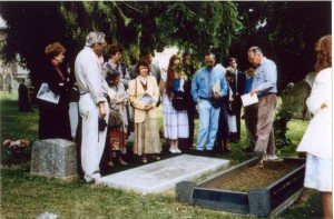 At Lewis grave